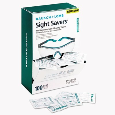 Sight Savers Pre-Moistened Anti-Fog Tissues With Silicone, 100/box