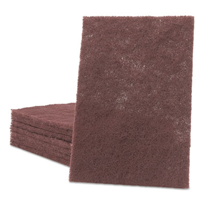 General Purpose Hand Pad, 6 X 9, Maroon, 20 Bx, 3 Bx/ct