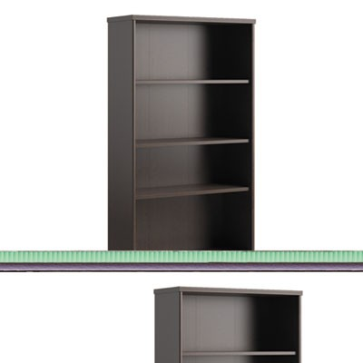 Envoy Series Five-Shelf Bookcase, 29 7/8w X 11 3/4d X 66 3/8h, Mocha Cherry