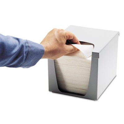 Quarterfold Wiper Dispenser, Plastic, 7.5 X 9 X 7.4, Gray, 6/carton