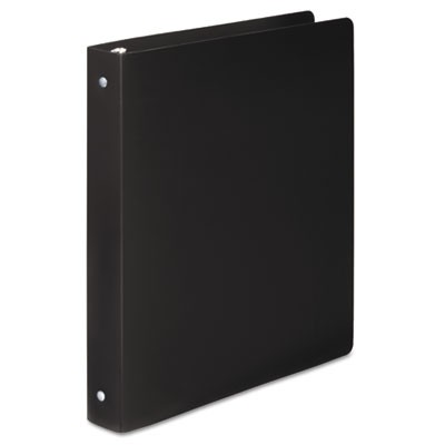 "ACCOHIDE POLY ROUND RING BINDER, 3 RINGS, 1"" CAPACITY, 11 X 8.5, BLACK"