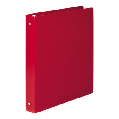 "ACCOHIDE POLY ROUND RING BINDER, 3 RINGS, 1"" CAPACITY, 11 X 8.5, EXECUTIVE RED"
