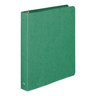 "PRESSTEX ROUND RING BINDER, 3 RINGS, 1"" CAPACITY, 11 X 8.5, DARK GREEN"