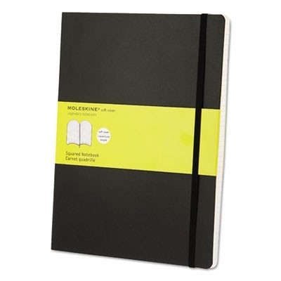 CLASSIC SOFTCOVER NOTEBOOK, 1 SUBJECT, QUADRILLE RULE, BLACK COVER, 10 X 7.5, 192 SHEETS