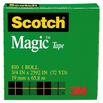 "MAGIC TAPE REFILL, 3"" CORE, 0.75"" X 72 YDS, CLEAR"