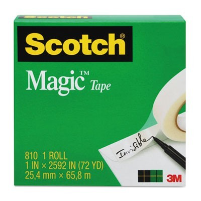 "MAGIC TAPE REFILL, 1"" CORE, 1"" X 36 YDS, CLEAR"