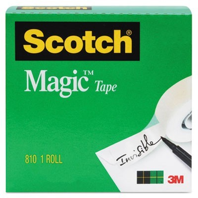 "MAGIC TAPE REFILL, 1"" CORE, 0.75"" X 83.33 FT, CLEAR"