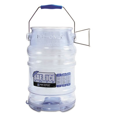 Saf-T-Ice Tote, 6gal Capacity, Transparent Blue