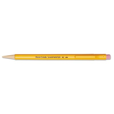 SHARPWRITER MECHANICAL PENCIL, 0.7 MM, HB (#2.5), BLACK LEAD, CLASSIC YELLOW BARREL, DOZEN