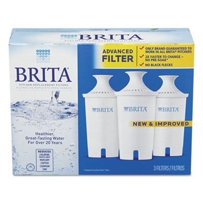 WATER FILTER PITCHER ADVANCED REPLACEMENT FILTERS, 3/PACK, 8 PACKS/CARTON