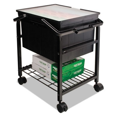 HEAVY-DUTY FILE SHUTTLE, 17.13W X 14.25D X 20H, BLACK
