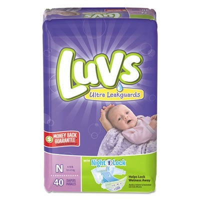 DIAPERS WITH LEAKGUARD, NEWBORN: 4 LBS TO 10 LBS, 40/PACK, 4 PACKS/CARTON