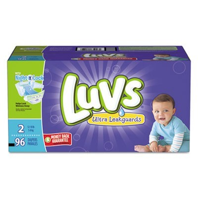 DIAPERS WITH LEAKGUARD, SIZE 2: 12 LBS TO 18 LBS, 96/CARTON