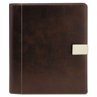 Textured Notepad Holder, 8 1/2 X 11, Leather-Like, Brown