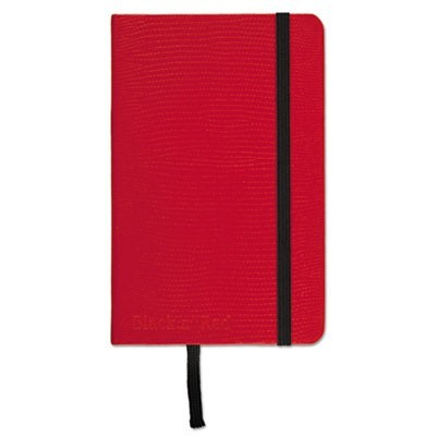RED CASEBOUND HARDCOVER NOTEBOOK, WIDE/LEGAL RULE, RED COVER, 5.5 X 3.5, 71 SHEETS