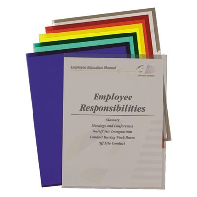 POLY PROJECT FOLDERS, LETTER SIZE, ASSORTED COLORS, 25/BOX