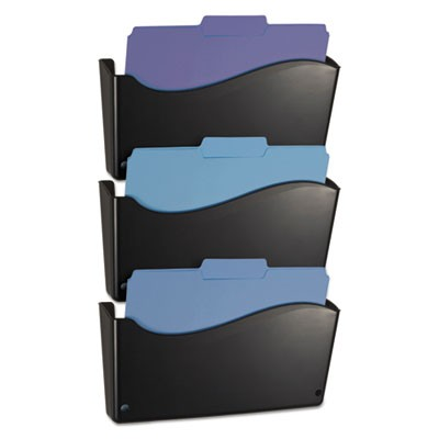2200 Series Wall File System, Letter, Black, 3/pack