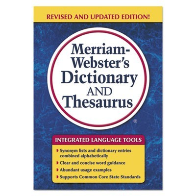 Merriam-Webster's Dictionary And Thesaurus, 992 Pages