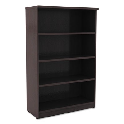 ALERA VALENCIA SERIES BOOKCASE, FOUR-SHELF, 31 3/4W X 14D X 54 7/8H, ESPRESSO