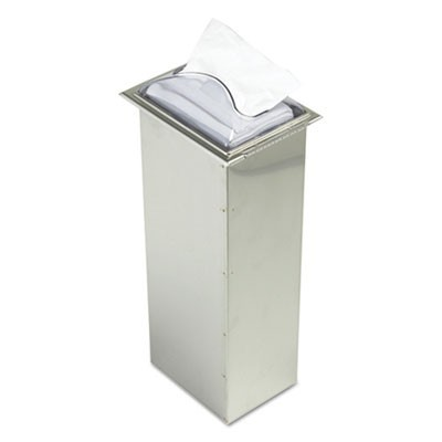 In-Counter Napkin Dispenser, Clear/stainless Steel, 7 X 5 1/2 X 19 5/8