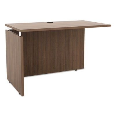 Alera Sedina Series Reversible Return/bridge, 42w X 23 5/8d X 29 1/2h, Walnut