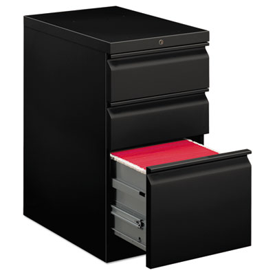 EFFICIENCIES MOBILE BOX/BOX/FILE PEDESTAL, 15W X 22.88D X 28H, BLACK