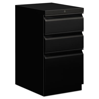 EFFICIENCIES MOBILE BOX/BOX/FILE PEDESTAL, 15W X 19.88D X 28H, BLACK
