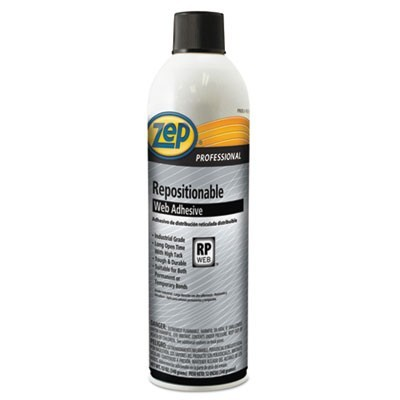 REPOSITIONABLE WEB ADHESIVE, 20 OZ, DRIES CLEAR, 12/CARTON