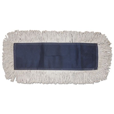 Disposable Dust Mop Head, Cotton, Cut-End, 60w X 5d