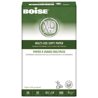 X-9 MULTI-USE COPY PAPER, 92 BRIGHT, 20LB, 8.5 X 14, WHITE, 500 SHEETS/REAM, 10 REAMS/CARTON