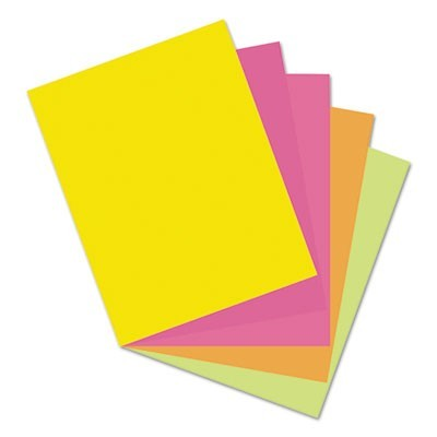 ARRAY CARD STOCK, 65LB, 8.5 X 11, ASSORTED HYPER COLORS, 50/PACK