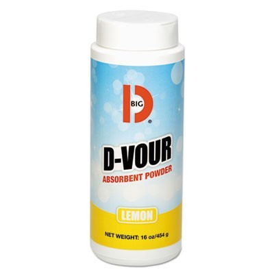 D-Vour Absorbent Powder, Canister, Lemon, 16oz, 6/carton