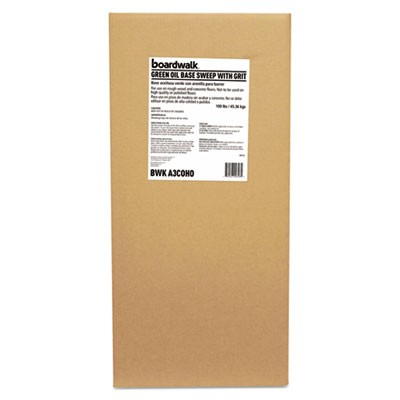 Oil-Based Sweeping Compound, Grit, Green, 100lbs, Box
