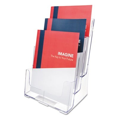3-COMPARTMENT DOCUHOLDER, MAGAZINE SIZE, 9.5W X 6.25D X 12.63, CLEAR