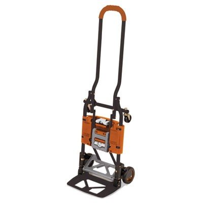 2-IN-1 MULTI-POSITION HAND TRUCK AND CART, 16.63 X 12.75 X 49.25, GRAY/ORANGE