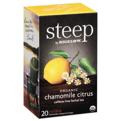 Steep Tea, Chamomile Citrus Herbal, 1 Oz Tea Bag, 20/box