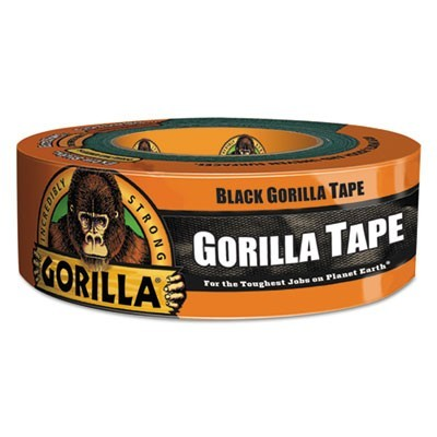 "GORILLA TAPE, 3"" CORE, 1.88"" X 35 YDS, BLACK"
