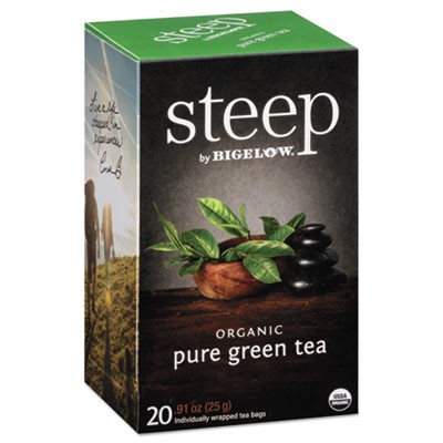 Steep Tea, Pure Green, 0.91 Oz Tea Bag, 20/box