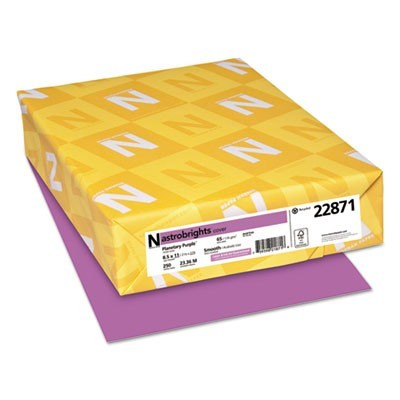 COLOR CARDSTOCK, 65LB, 8.5 X 11, PLANETARY PURPLE, 250/PACK