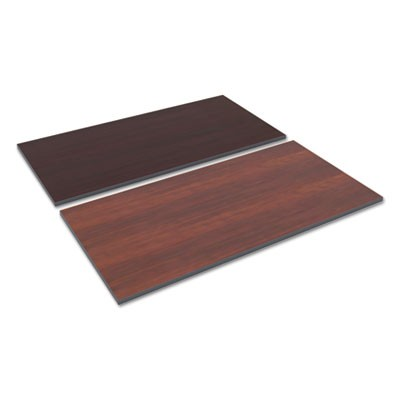 REVERSIBLE LAMINATE TABLE TOP, RECTANGULAR, 59 3/8W X 29 1/2,MED CHERRY/MAHOGANY