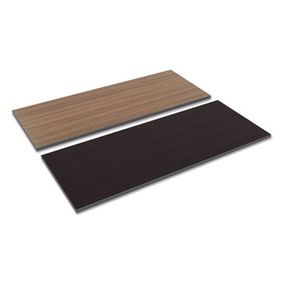 REVERSIBLE LAMINATE TABLE TOP, RECTANGULAR, 59 3/8W X 23 5/8D, ESPRESSO/WALNUT