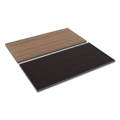 Reversible Laminate Table Top, Rectangular, 47 5/8w X 23 5/8d, Espresso/walnut