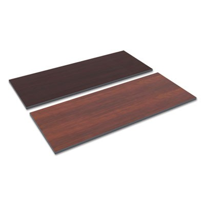 Reversible Laminate Table Top, Rectangular, 59 1/2w X 23 5/8,med Cherry/mahogany
