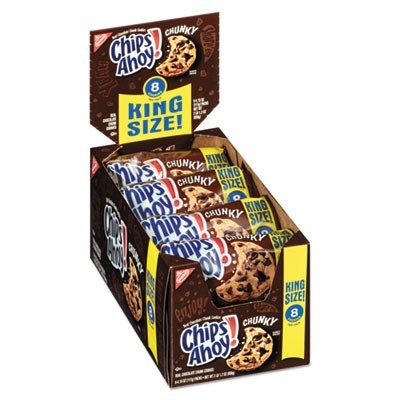 Chips Ahoy Chocolate Chip Cookies, King Size, 4.15 Oz Pack, 8/box
