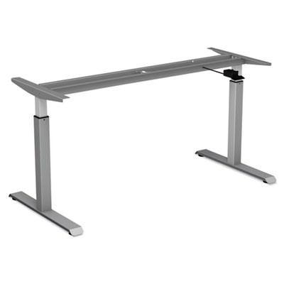 "ADAPTIVERGO PNEUMATIC HEIGHT-ADJUSTABLE TABLE BASE, 26.18"" TO 39.57"", GRAY"