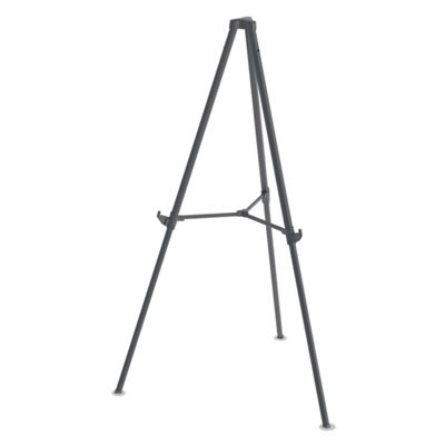 "Quantum Heavy Duty Display Easel, 35.62"" - 61.22""h, Plastic, Black"