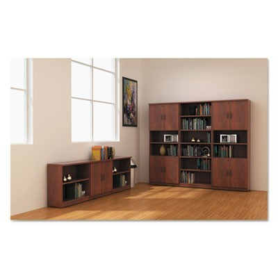 ALERA VALENCIA SERIES BOOKCASE, SIX-SHELF, 31 3/4W X 14D X 80 1/4H, MEDIUM CHERRY