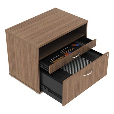 ALERA OPEN OFFICE SERIES LOW FILE CABINET CREDENZA, 29.5W X19.13D X 22.88H,WALNUT