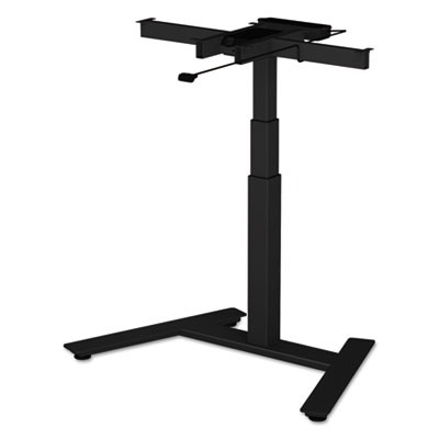 "ADAPTIVERGO 1-COLUMN ELECTRIC ADJUSTABLE TABLE BASE, 24.75"" TO 43.25""H, BLACK"