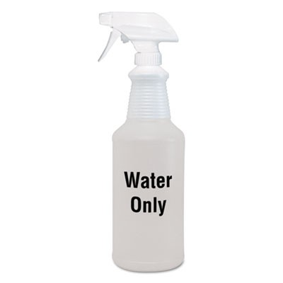 Water Only Spray Bottle, Clear, 32 Oz, 12/carton